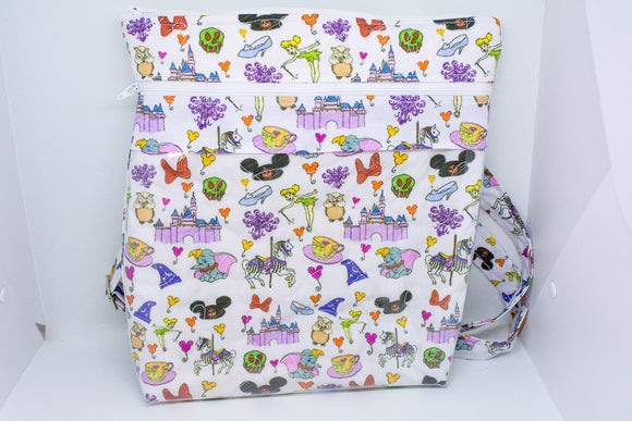 Quilted Convertible Purse - Disney Doodles