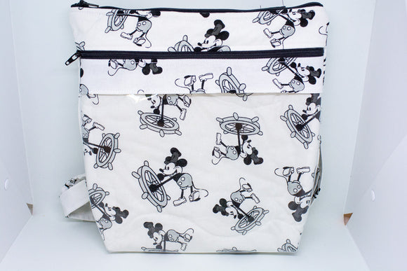 Quilted Convertible Purse - Steamboat Willie