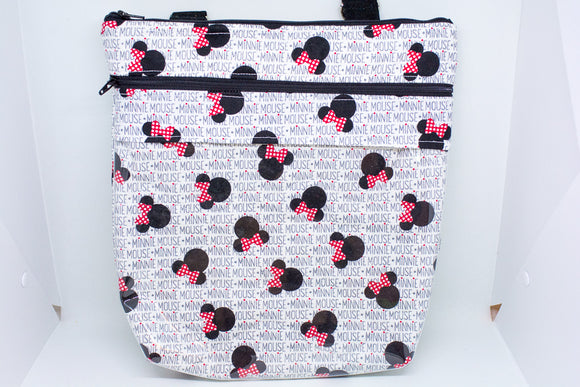 Quilted Convertible Purse - Minnie Name