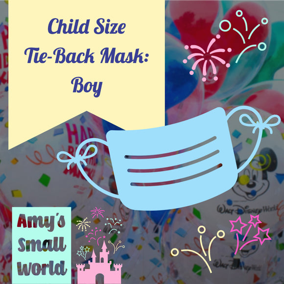 Preorder Mystery CHILD face mask - elastic BOY