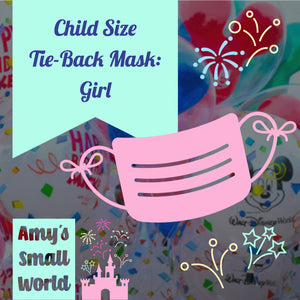 Preorder Mystery CHILD face mask - GIRL -  elastic