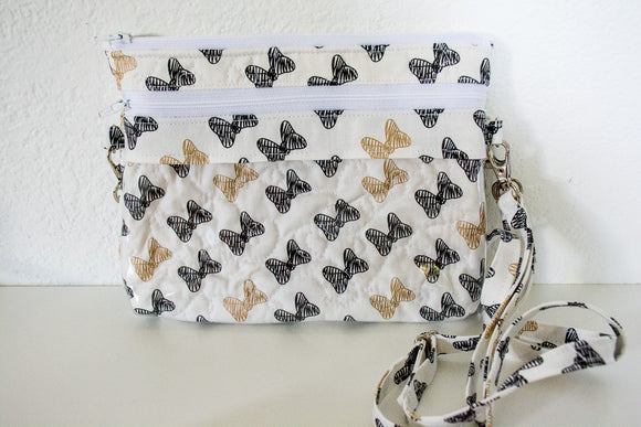 The Bear Necessities Bag - Black and Gold Bows