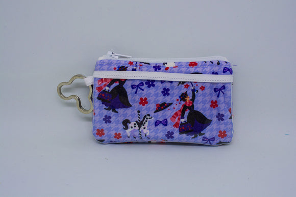 Keychain ID Wallet - Purple Mary Poppins