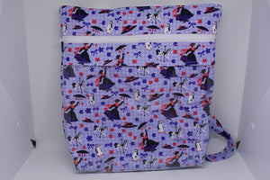 Quilted Convertible Purse - Purple Mary Poppins
