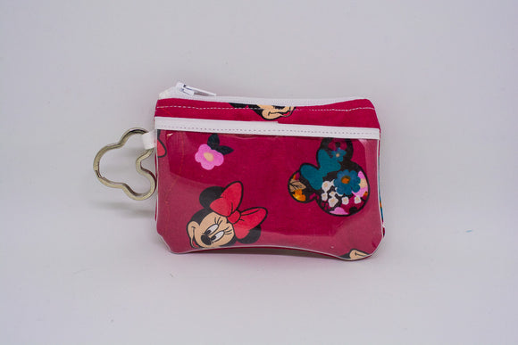 Keychain ID Wallet - Red Minnie Floral