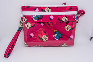 Bear Necessities Bag - Red Minnie Floral