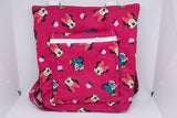 Quilted Convertible Purse - Red Minnie Floral