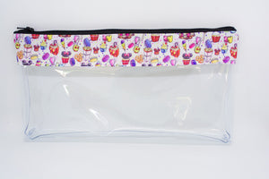 Makeup Bag - White Snacks