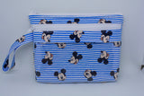 Touch Screen Wristlet - Blue Mickey Stripes