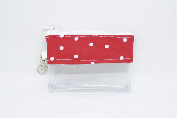 Coin Bag - Red Polka Dots