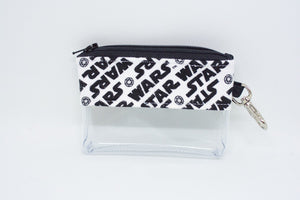 Coin Bag - Black and White Star Wars