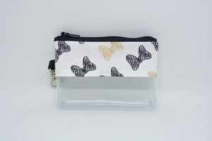Coin Bag - Black and Gold Bows