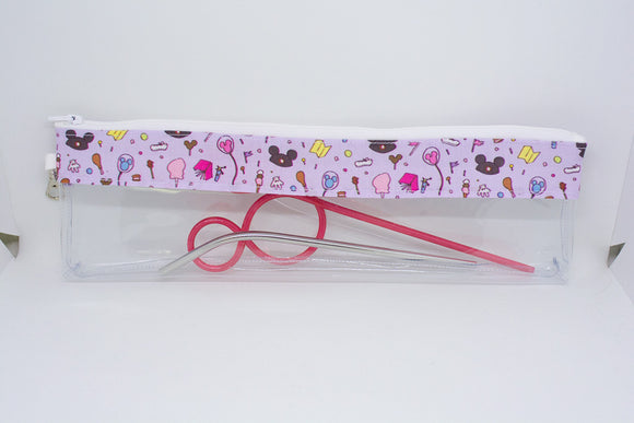 Reusable Straw Bag - Purple Park Icons