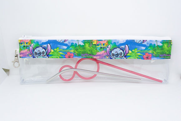 Reusable Straw Bag - Tropical Stitch