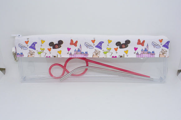 Reusable Straw Bag - Disney Doodles