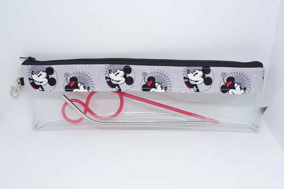 Reusable Straw Bag - Smiling Mickey and Minnie
