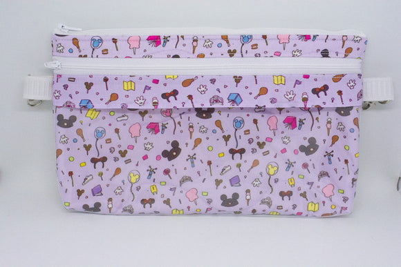 Large Belt Bag - Purple Park Icons