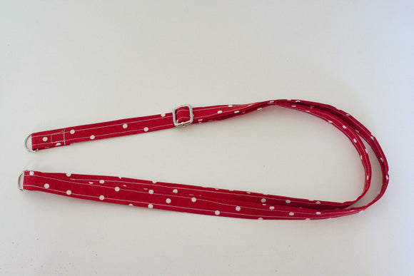 Adjustable Strap - Red Polka Dot