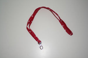 Thin Lanyard - Red Polka Dots