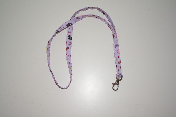 Thin Lanyard - Purple Park Icons