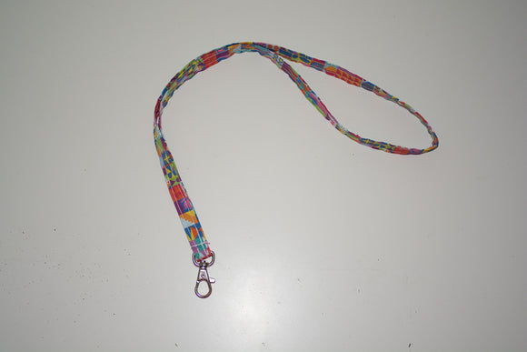 Thin Lanyard - Colorful Small World