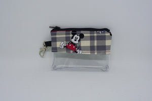 Coin Bag - Plaid Mickey