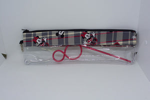Reusable Straw Bag - Plaid Mickey