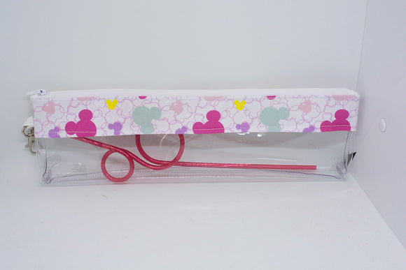 Reusable Straw Bag - Pastel Mickey Heads