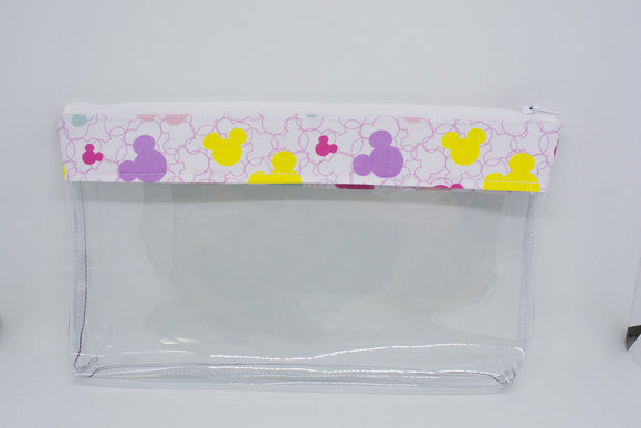 Makeup Bag - Pastel Mickey Heads