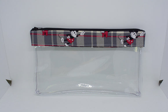 Makeup Bag - Plaid Mickey