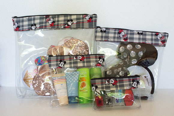 Travel Bag Set - Plaid Mickey