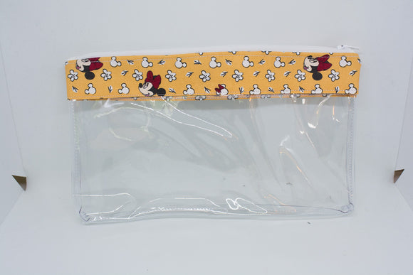 Makeup Bag - Yellow Floral Minnie