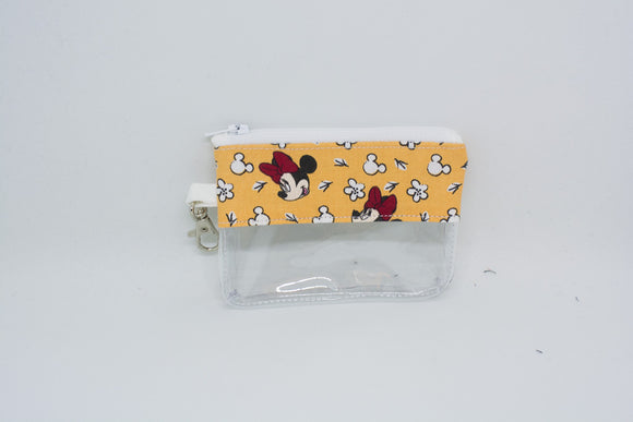 Coin Bag - Yellow Floral Minnie