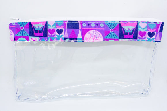 Makeup Bag - Purple Small World