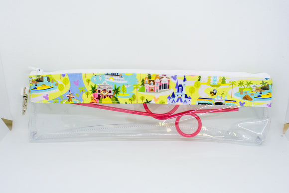 Reusable Straw Bag - Disney Map