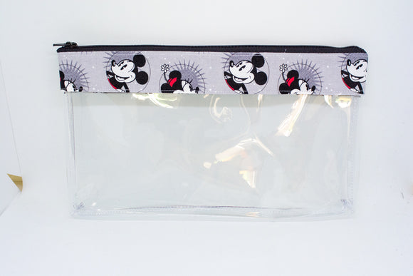 Makeup Bag - Smiling Mickey and Minnie