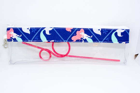 Reusable Straw Bag - Blue Ariel