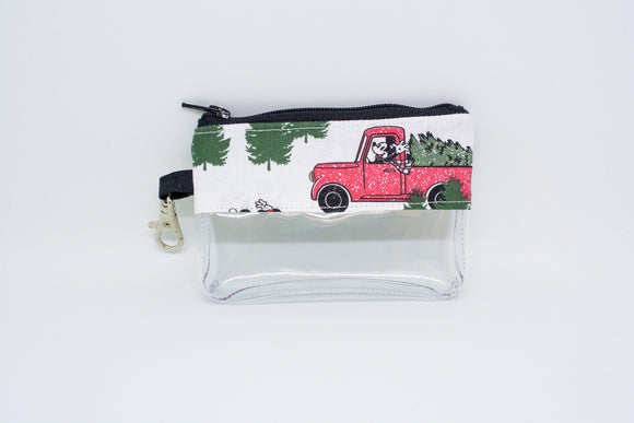 Coin Bag - Christmas Truck