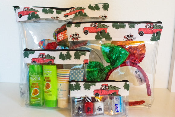 Travel Bag Set - Christmas Truck