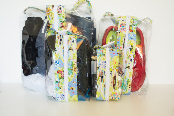 Hanging Boxy Bag Set - Disney Map