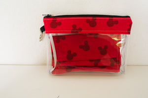 Face Mask Bag With 1 Matching Mask - Red Mickey