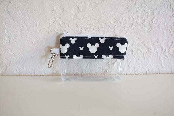 Coin Bag - White Mickey Silhouettes