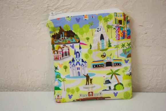 Privacy Pouch - Disney Map