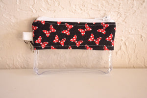 Coin Bag - Black and Red Bows