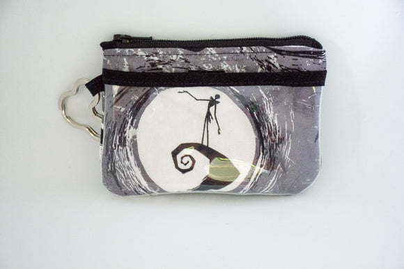 Keychain ID Wallet -  Grey Nightmare Before Christmas