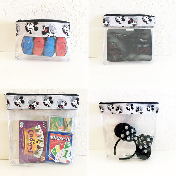 Travel Bag Set - Smiling Mickey and Minnie