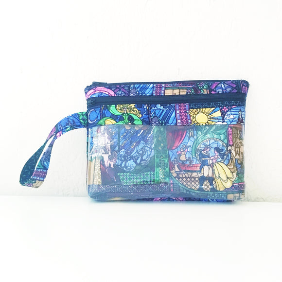 Touch Screen Wristlet - Stained Glass Beauty and the Beast