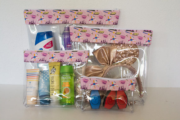 Travel Bag Set - Pink Fantasyland
