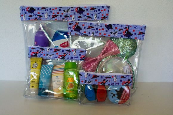 Travel Bag Set - Purple Mary Poppins