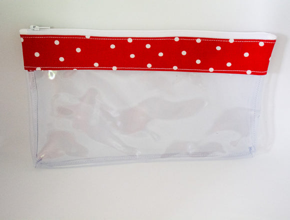 Makeup Bag - Red Polka Dots